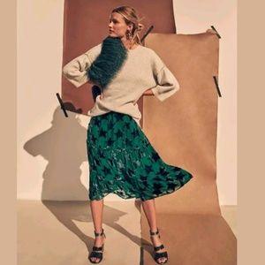 NEW Anthropologie Starry Eyed Velvet Burnout skirt